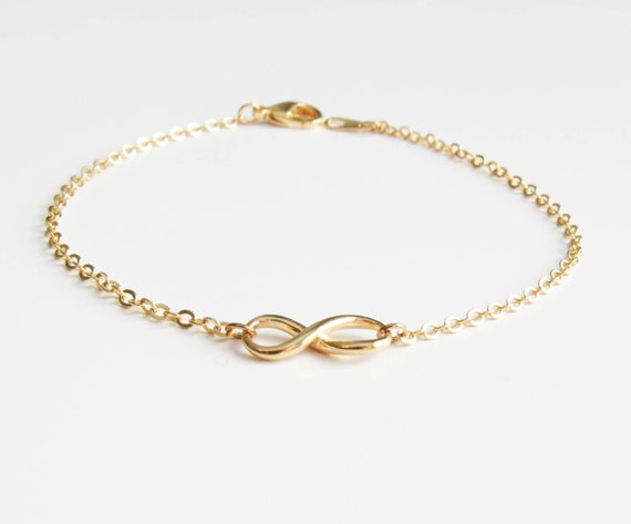 Infinity Bracelet | Delicate infinity bracelet | Layering Bracelet | Gold Infinity Bracelet | Mothers Day Gift