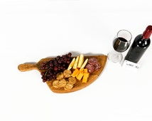 "SERVING TRAY - ""Akara"" - Wine Barrel Head Cutting Board -100% recycled"