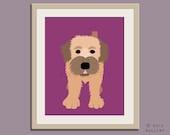 Wheaton terrier print puppy dog nursery decor. Dog nursery print. Art for children, kids decor. Custom dog art kids. Art print by WallFry