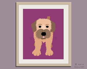 Wheaton terrier print puppy dog nursery decor. Dog nursery print. Art for children, kids decor. Custom dog art kids. Art print by WallFry