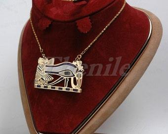 """Marvelous Egyptian """"wadjet"""" Eye Of Horus Necklace halloween"""