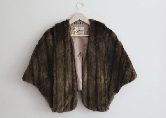 Wrap vintage mink