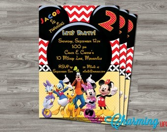 Mickey Mouse Clubhouse Party Invitation PRINTABLE - Digital Download - Kids - Birthday 5x7