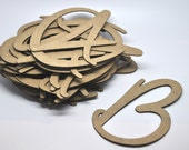 CHIPBOARD LETTERS 4 inch - Uppercase - Chipboard Tag - Qty 40  - Kraft Tag - Favor Packaging - Party Supply - Script - Wedding