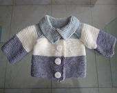 SWEET GREY baby sweater