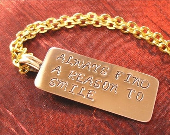SALE - Copper Dog Tag Necklace - Hand Stamped Gifts for Women NK-47