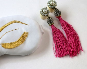 Breakfast at Tiffany's Vintage Inspired Tassel Earplugs
