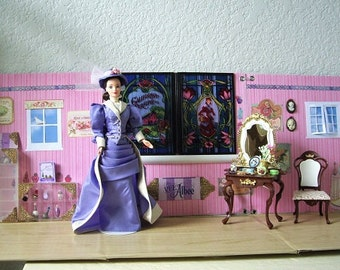 SALE  California Perfume Co Playset/vignette/Diorama with Barbie Doll as Mrs. Albee, First Avon Lady
