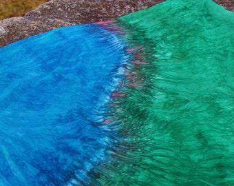 Corner Farm Pond Playsilk ~ Play Mat  ~ Hand Dyed ~ Waldorf Inspired!