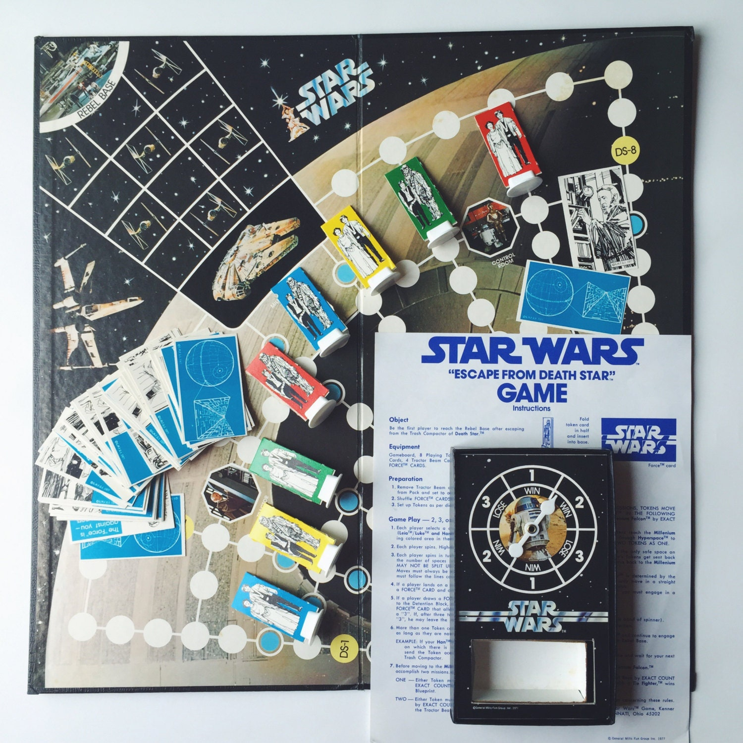 Vintage 1977 Star Wars Board Game Escape From Death Star