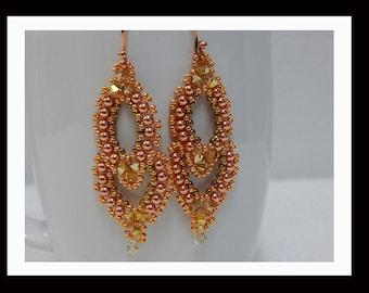 Women's Handmade Dangle Earrings-428  Women's Earring, Gifts, Jewelry, Beadwork, Beaded, Dangle, Women's Jewelry, Jewelry Accessories