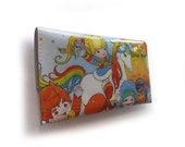 RESERVED Rainbow Brite Purse & Care Bears Oyster Card Holder - Recycled Vintage Comics in Vinyl