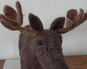 Moose-Needle Felted Sculpture