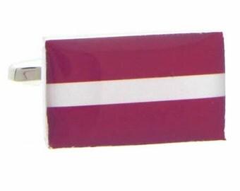 Latvia Flag Cufflinks