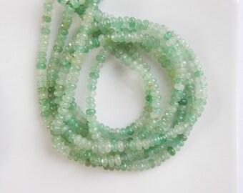 2x4mm Green aventurine faceted rondelle beads, full strand