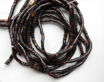 3.5-4.5mm Brown  Shell  heishi beads 24 inches strand ,