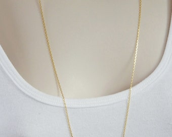 """Gold Vermeil, laser cut cable chain, finished necklace chain(Gold plated .925 sterling silver). Available in 16"""",18"""",20"""",24"""" and 30"""" lenghts"""
