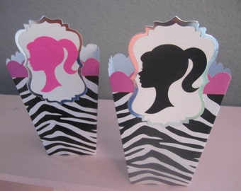 Set of (8) ZEBRA Print BARBIE Party FAVORS