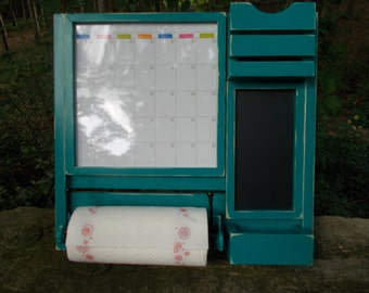 Kitchen Organizer--Command Center--Message Board--Paper Towel Holder--Message Center