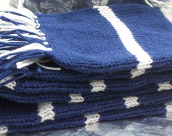 Ravenclaw Inspired Hand Knitted Deluxe Scarf