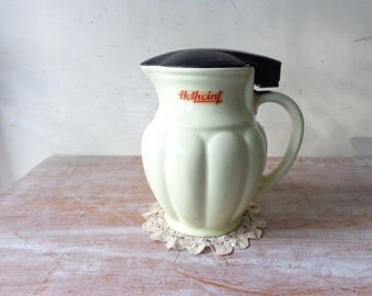 VIntage Ceramic Electric Kettle in Pastel Yellow