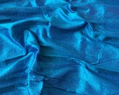 Bright Blue 100 Percent Pure Silk Dupioni Fabric By The Yard Decorative Silk Fabric Silk Fabric Wholesale Raw Silk Fabric Indian Silk