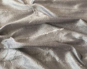 Grey 100 Percent Pure Silk Dupioni Fabric Decorative Silk Fabric Wholesale Silk Fabric Raw Silk Fabric Indian Silk Fabric By The Yard