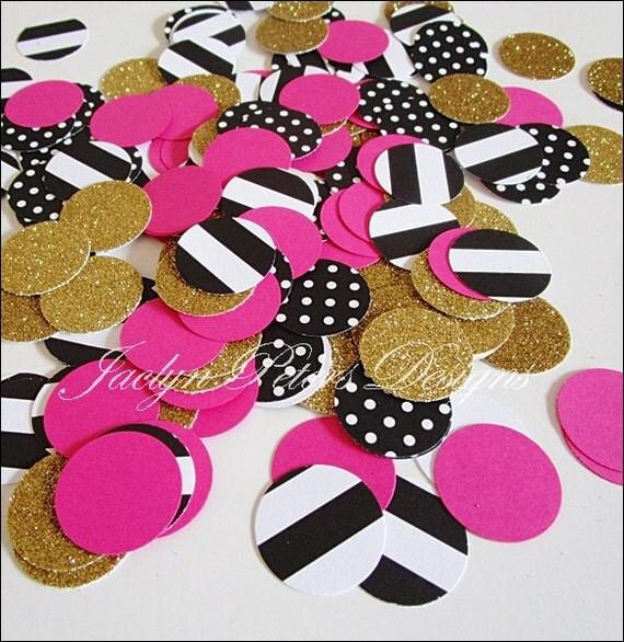 200 Piece Bachelorette Party Confetti Black Stripes Amp Polka
