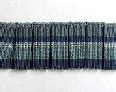 PLEATED  flat trim 2 inch in blues