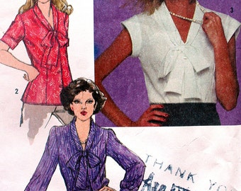 Bust 38 Vintage Fitted Blouse Sewing Pattern Simplicity 9559 Size 16 Cut and Ready