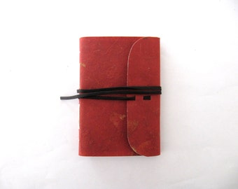 limp paper notebook - mango leaf, various colours, longstitch