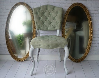 G O L D, Oval Mirror, Cottage Nursery, Vanity,