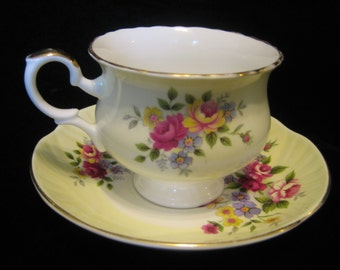 SALE Crown Staffordshire Teacup and Saucer