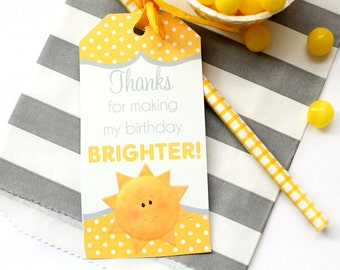 You Are My Sunshine Favor Tags / You Are My Sunshine Party / Sunshine Birthday / You Are My Sunshine / INSTANT DOWNLOAD