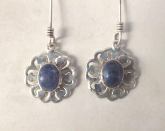 Lapis Lazuli Filigree Earrings
