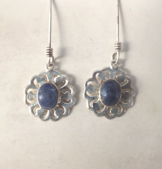 Lapis Lazuli Filigree Earrings