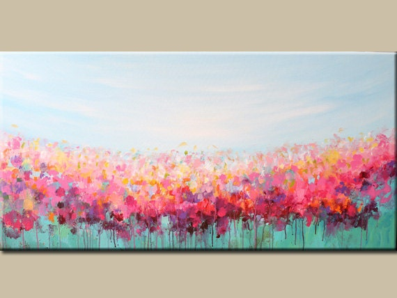 Acrylic painting abstract art flowers painting landscape for Floral acrylic paintings
