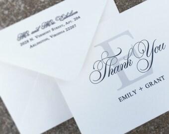 Monogram Wedding Thank You Cards