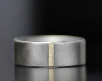 men's wedding band, unique simple men's wedding ring set, palladium, gold, women's wedding band set, women's wedding ring, handmade ring