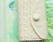 Hobonichi cover Bible cover sewing kit, custom bible cover lace bible cover, linen bible cover custom made
