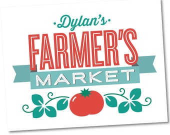 Personalized Welcome Sign, Birthday Party Décor // FARMER'S MARKET