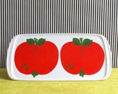 Vintage Waechtersbach Serving Plate with Big Red Apples