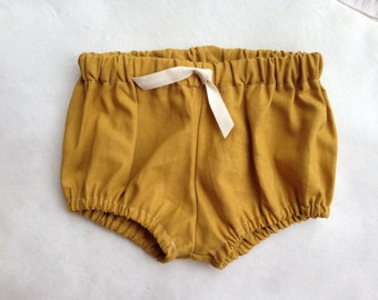 Mustard Linen Shorties/Bloomers/Shorts
