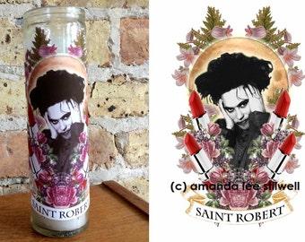 "ROBERT SMITH Altar Candle: ""Saint Robert""  The Cure"