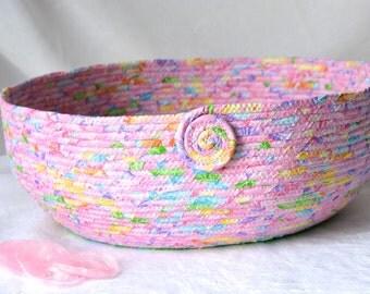 Princess Pink Cat Bed, Handmade Pink Doll Basket, Shabby Chic Magazine Rack, Storage Organizer, Pet Bed, Dog Bed, Toy Basket
