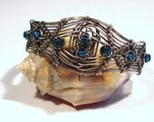 Sterling Silver Filled Wire Woven Bracelet, Free US Shipping
