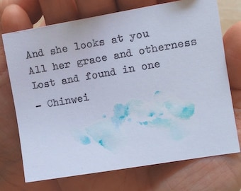 Lost and found. Haiku. Typewriter Love, Original watercolour, ACEO size