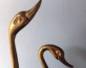 Huge Brass Swans