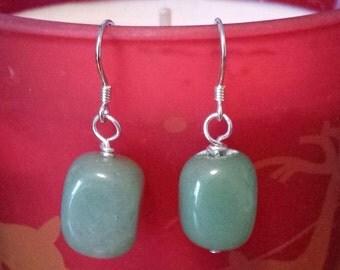 Jade Gemstone Drop Earrings