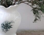 SHOP SALE Vintage Transfer Ware Ironstone Vase